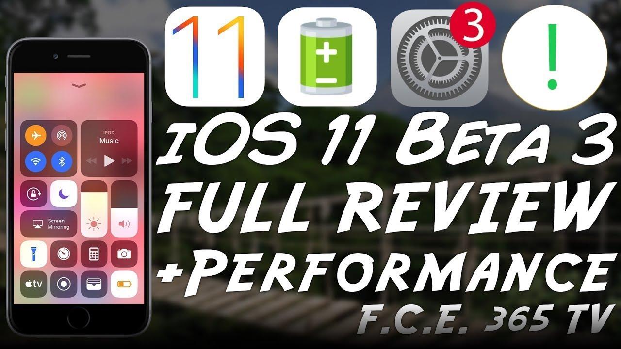 ios 11 beta 3 review