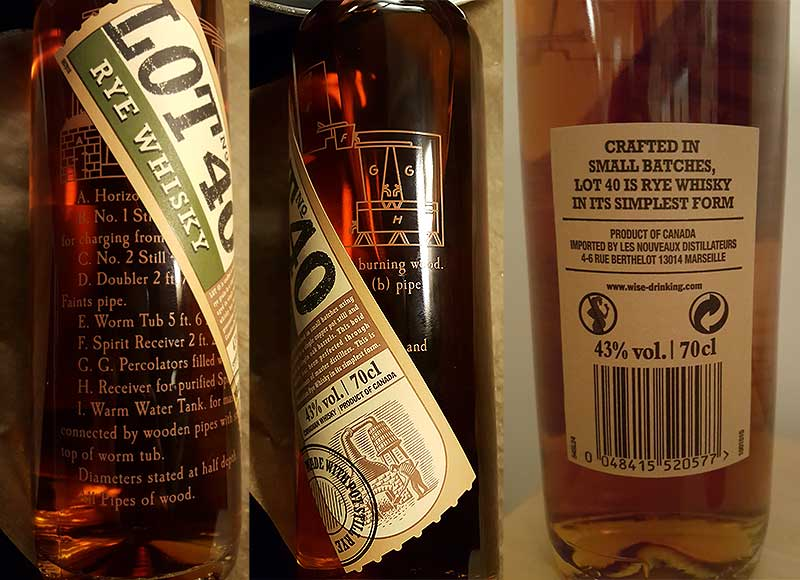 lot no 40 rye whiskey review