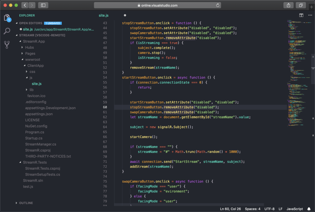 visual studio online code review