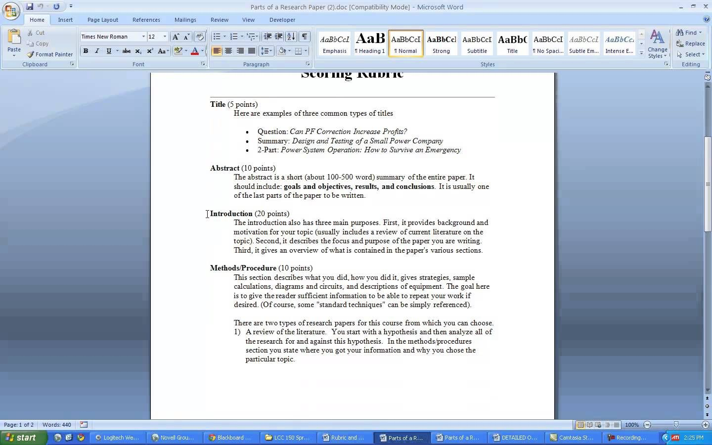 how to write a scientific review paper