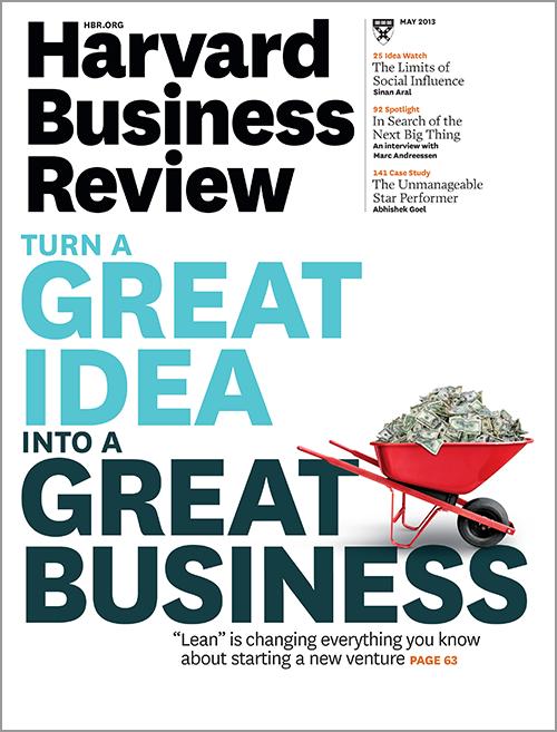 lean startup harvard business review pdf