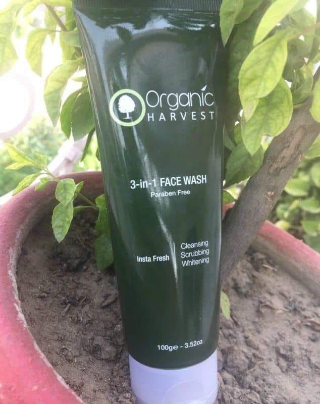 organic harvest face wash review