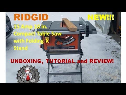 ridgid 15 amp table saw review