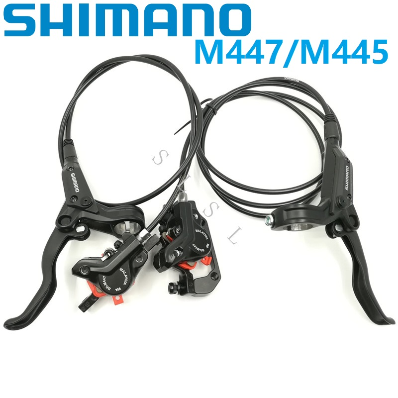 shimano m445 hydraulic disc brakes review